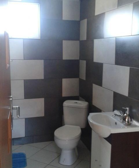 Łazienka w drewnianym Domku