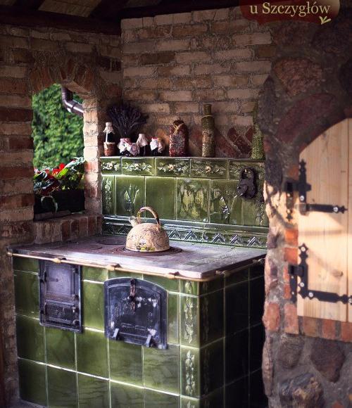 kuchnia w domku Baby Jagi