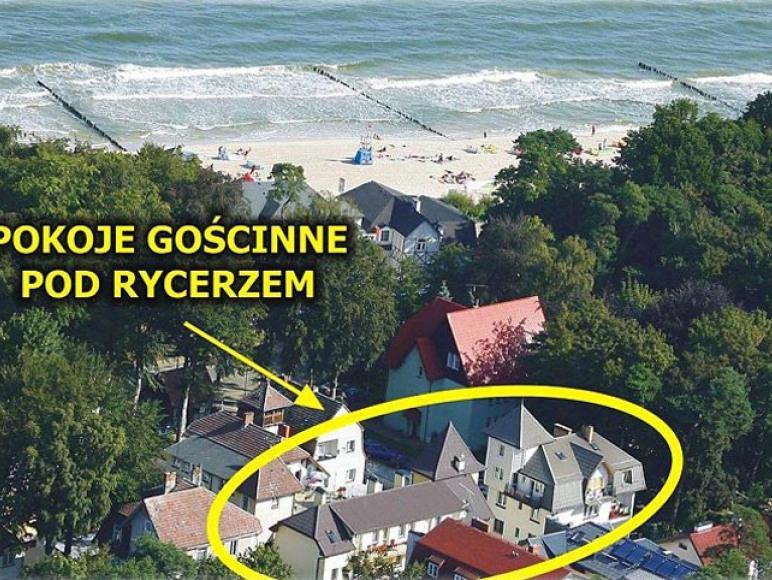 Pokoje Gościnne Pod Rycerzem 80 m do morza