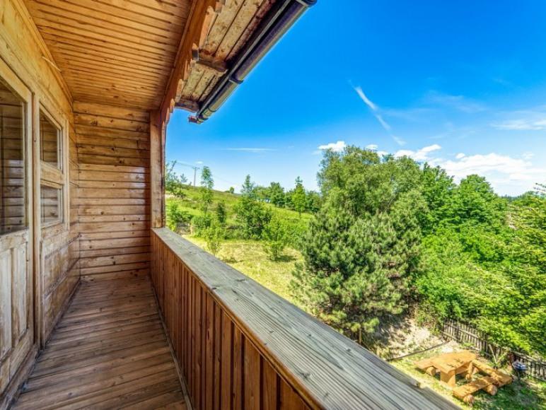 Widok z balkonu pokój 2