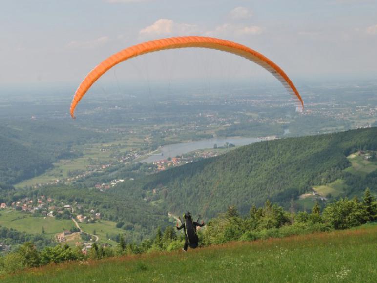 widok z góry Żar