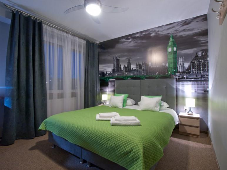 Pokój Londyn z bardzo wygodnym łóżkiem
