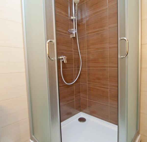 Łazienka - prysznic w pokoju Londyn