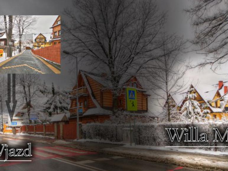 Willa Mała wjazd