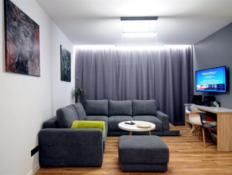 Salon od strony wejścia do apartamentu