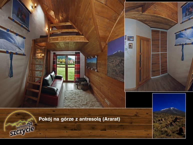 Apartament na Szczycie - Sypialnia z antresołą z widokiem na góry