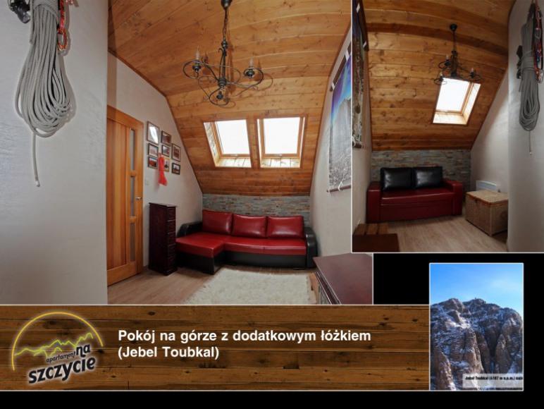 Apartament na Szczycie - Druga sypialnia z dodatkowym łóżkiem