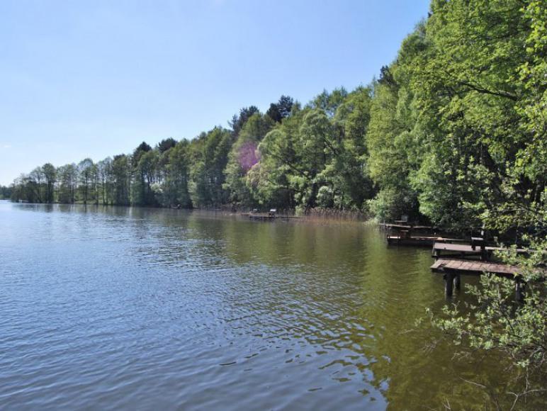Zatoka jeziora Kalwa w Miłukach