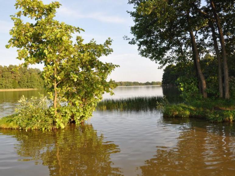 Pobliski przesmyk na jeziorze Kalwa