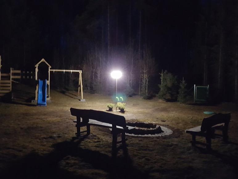 podświetlane miejsce na ognisko