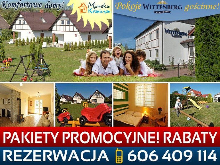 komfortowe domki Morska Kraina pokoje gościnne Wittenberg