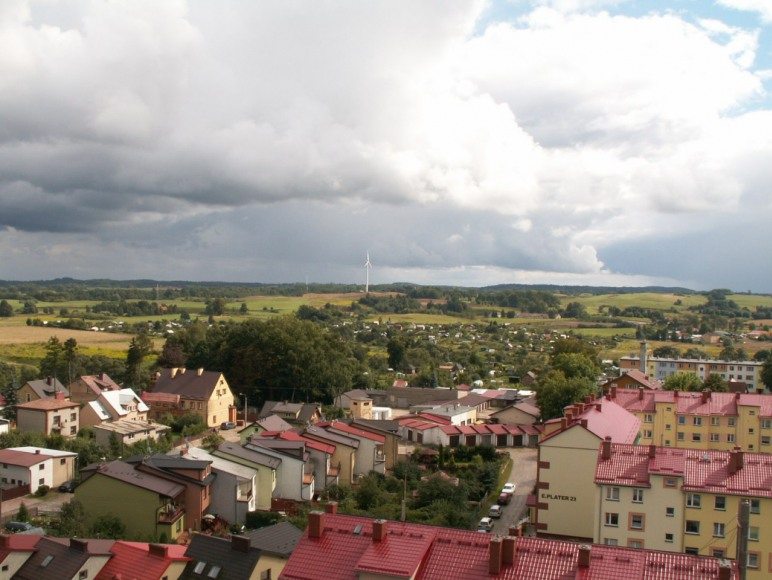 Gołdap-widok z wieży ciśnień