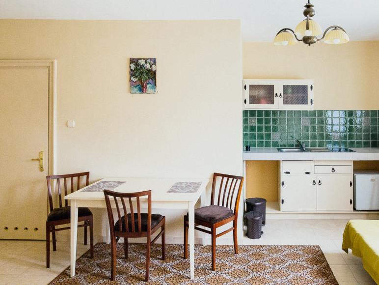 2,3 lub 4 osobowy pokój z łazienką i aneksem kuchennym