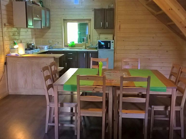 Pokój dzienny i kuchnia w Amelii