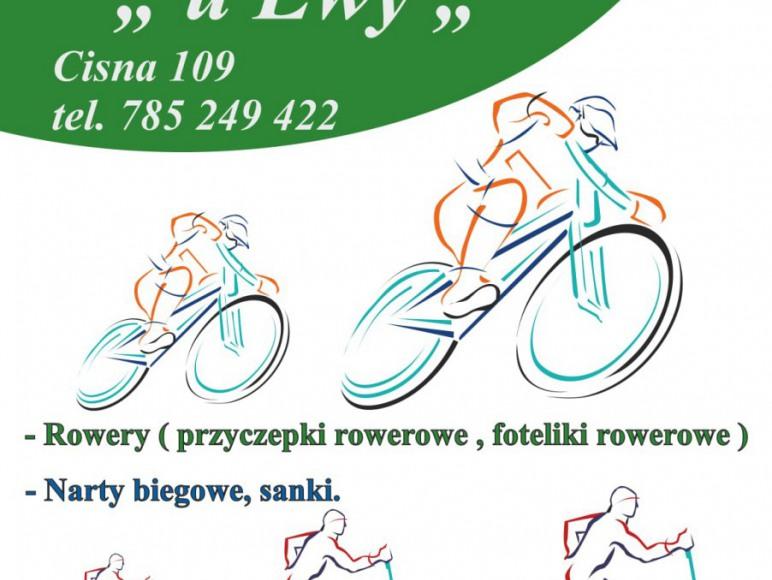 wypożyczalnia rowerów Cisna