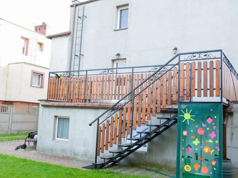 Taras-wejście apartament1