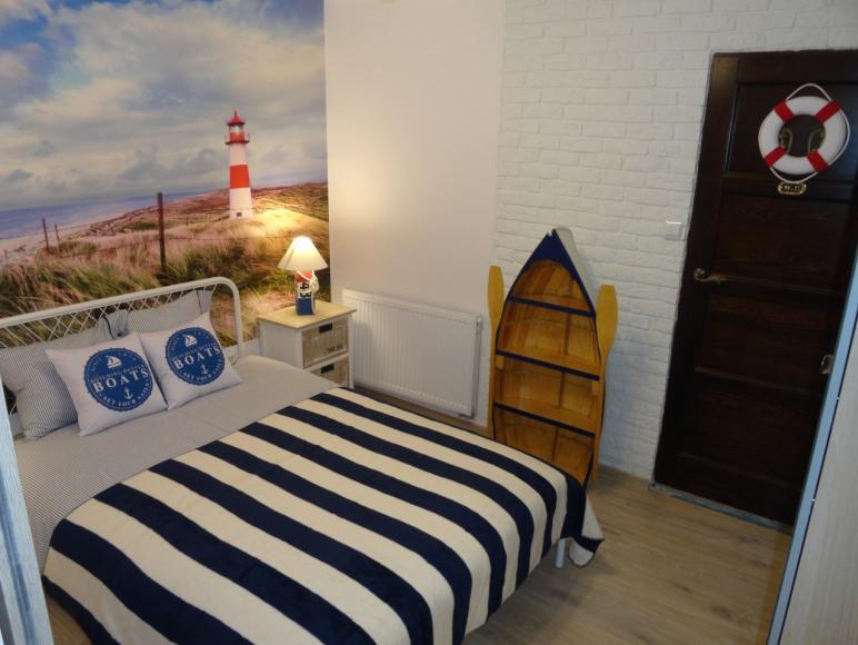 Willa Klara apartamenty w Jastarni Zegluj z nami sypialnia