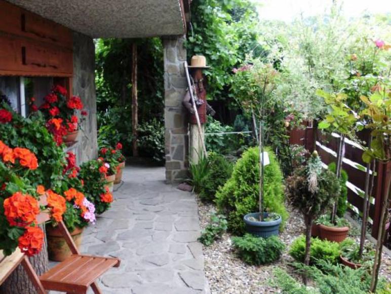 ogród przed stołówką