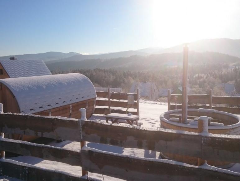 Saunowisko zimą