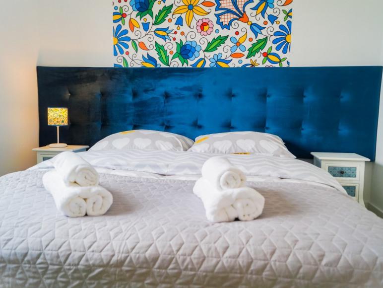 sypialnia w apartamencie kaszubia