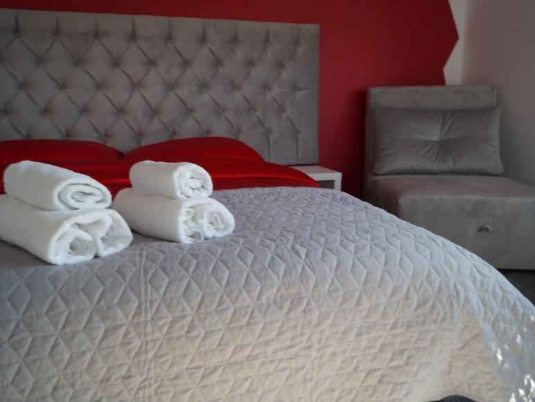 sypialnia w apartamencie Rubin