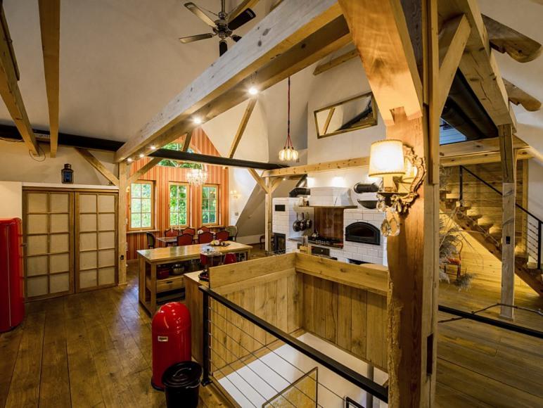 Salon z kuchnią - Loft
