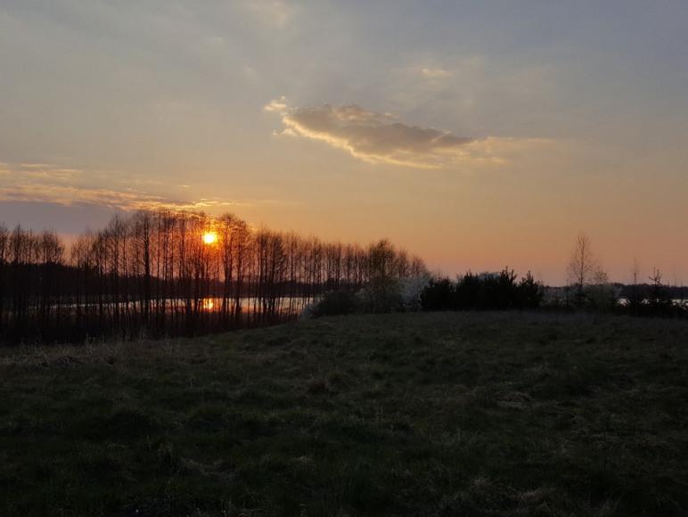 Zachód słońca z Piecach