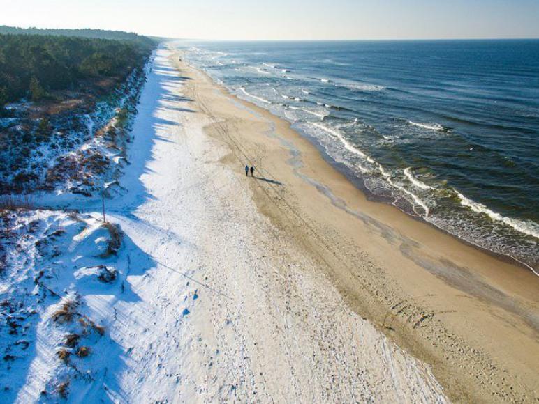Piękna plaża w Kątach