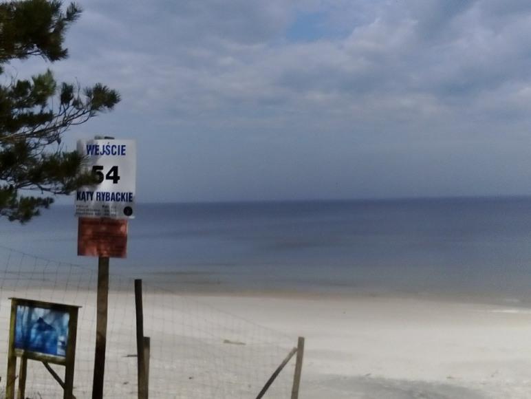 Zejście na dziką plażę