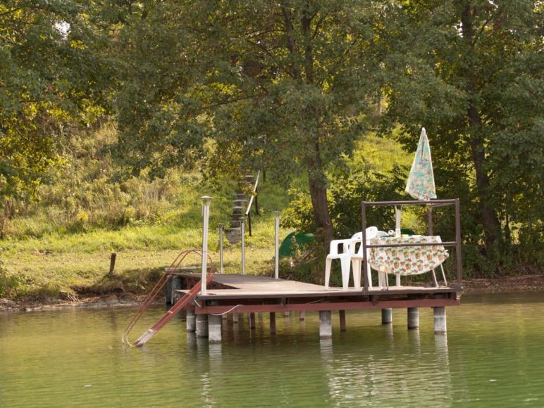 Kładka- widok z jeziora.