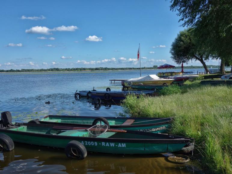 Widok na Narew i Jezioro Zegrzyńskie tuż przy Willi Żaba