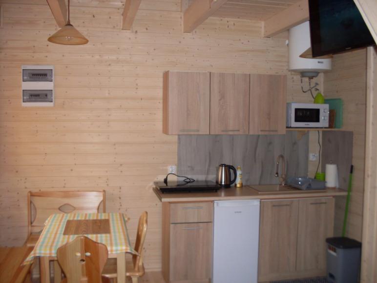 dom drewniany aneks kuchenny