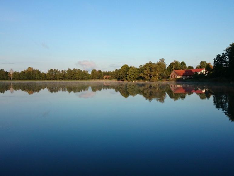 Piękny widok na jezioro.