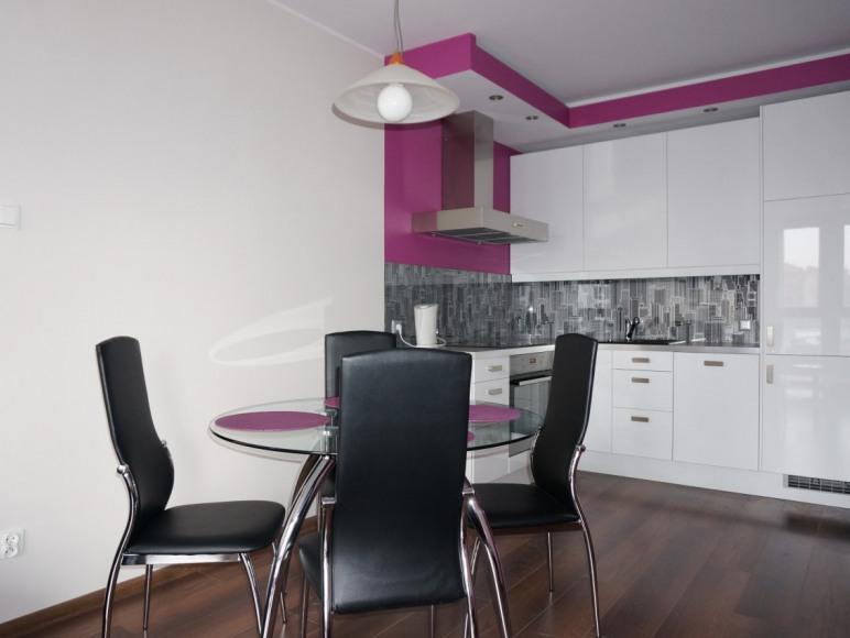 Salon część z aneksem kuchennym