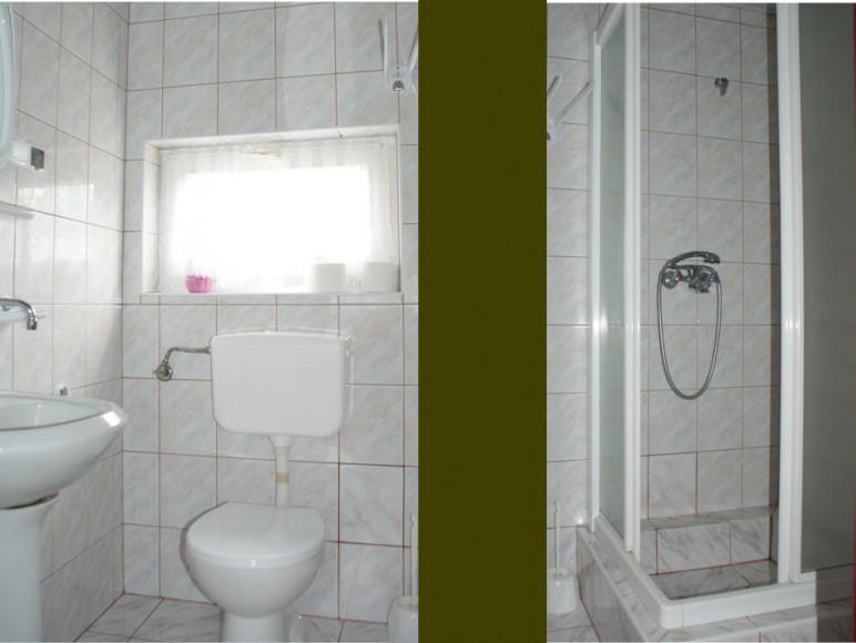 Cicha Zatoka - łazienka pokoju 3-osobowego