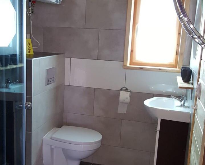 Łazienka w domku 5 i 6 są identyczne