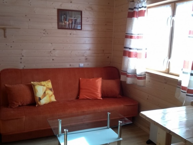 Salonik z kanapą do spania dla 2 osób
