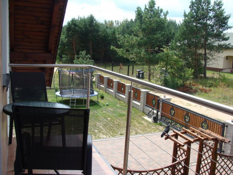 Widok z balkonu - posesja przy Leśnej 31