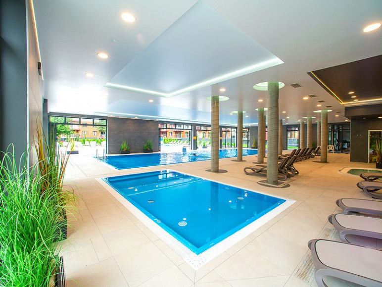 Apartament blisko plaży z basenem, sauna, jacuzzi