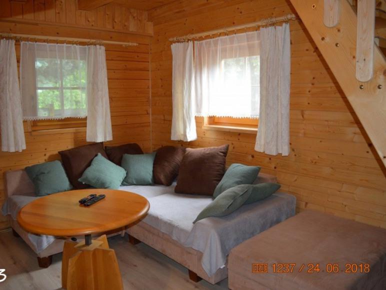 Salon domek 6 os drewniany