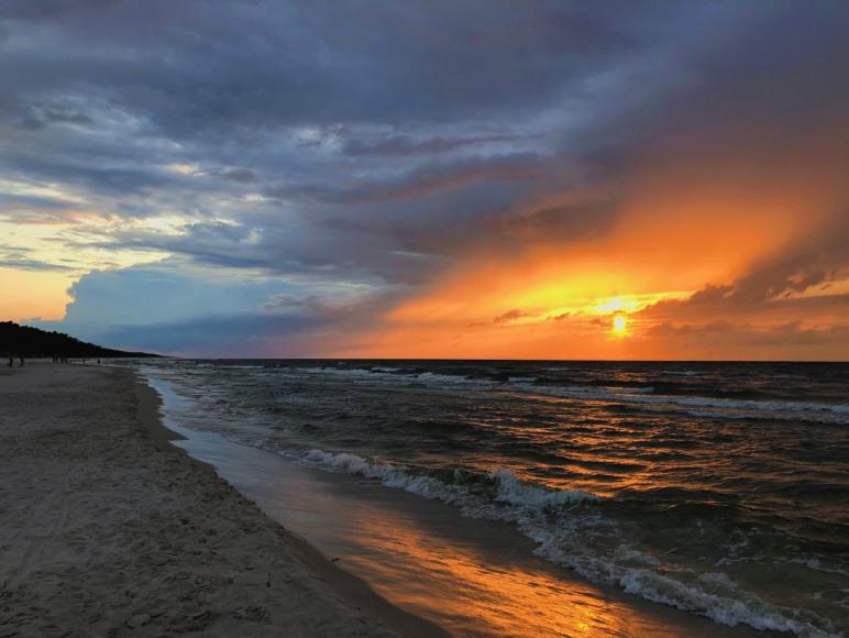 zachód słońca kopalino