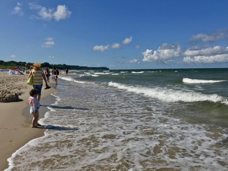 Piękna plaża we Władysławowie.
