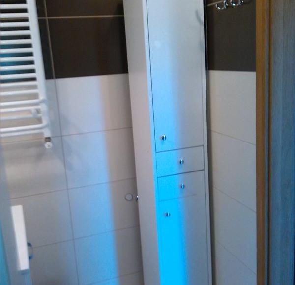 Łazienka - mieszkanie brązowe