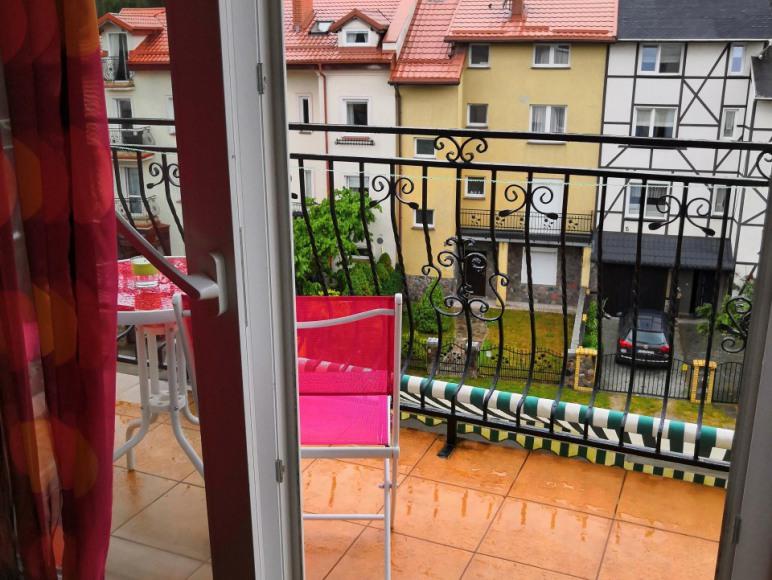 Balkon w apartamenie loft
