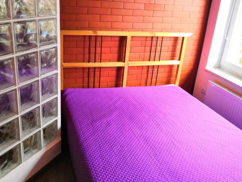 Sypialnia apartamentu loft