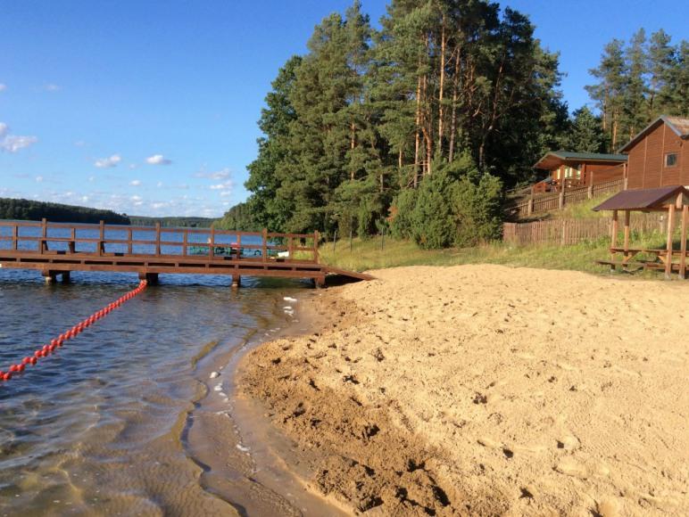 Fragment plaży i kąpielisko