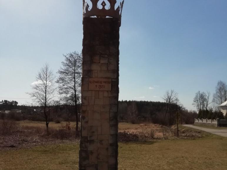 Obelisk Kazimierza Wielkiego w Żeleźnicy