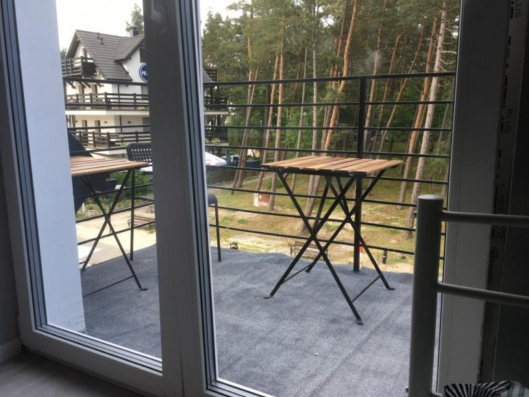 Balkon w pokoju 3 os. 50 m od plaży