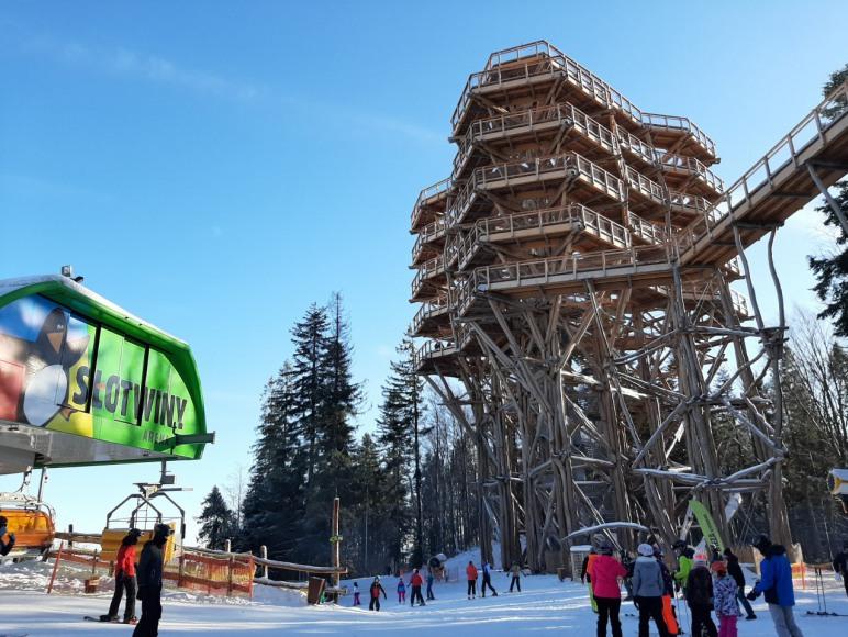 Wieża Widokowa i Kompleks Arena.