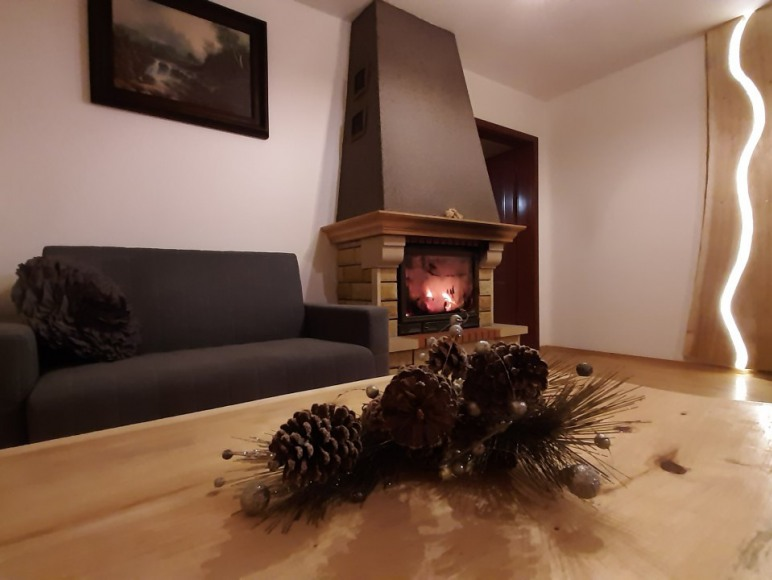 Apartament z kominkiem.
